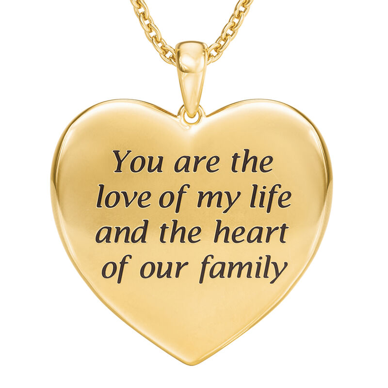 Heart of Our Family Diamond Pendant 10177 0014 c back
