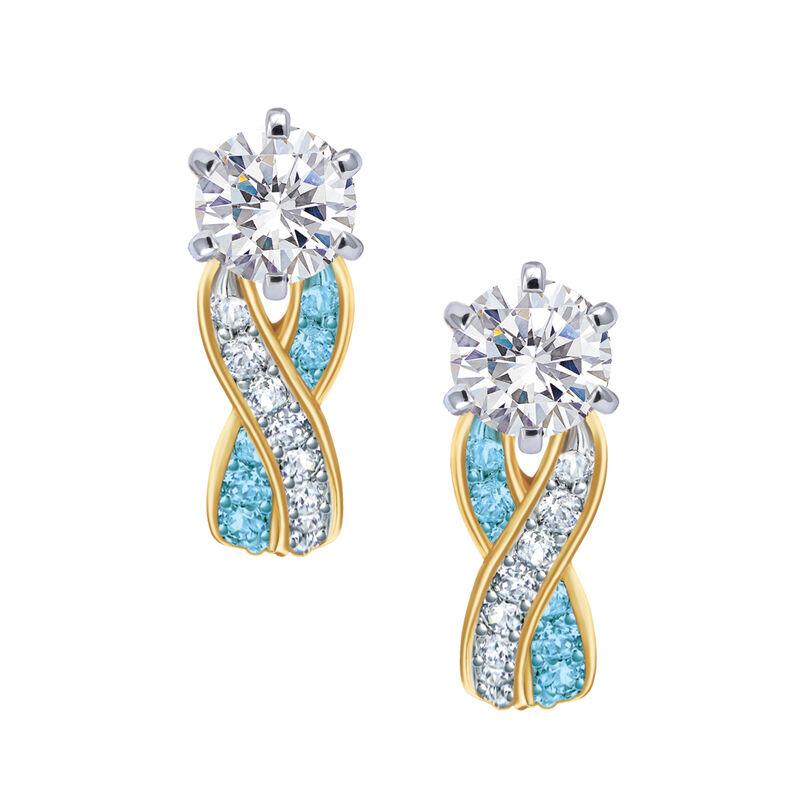 Birthstone Swirl Earrings 6243 0038 c march