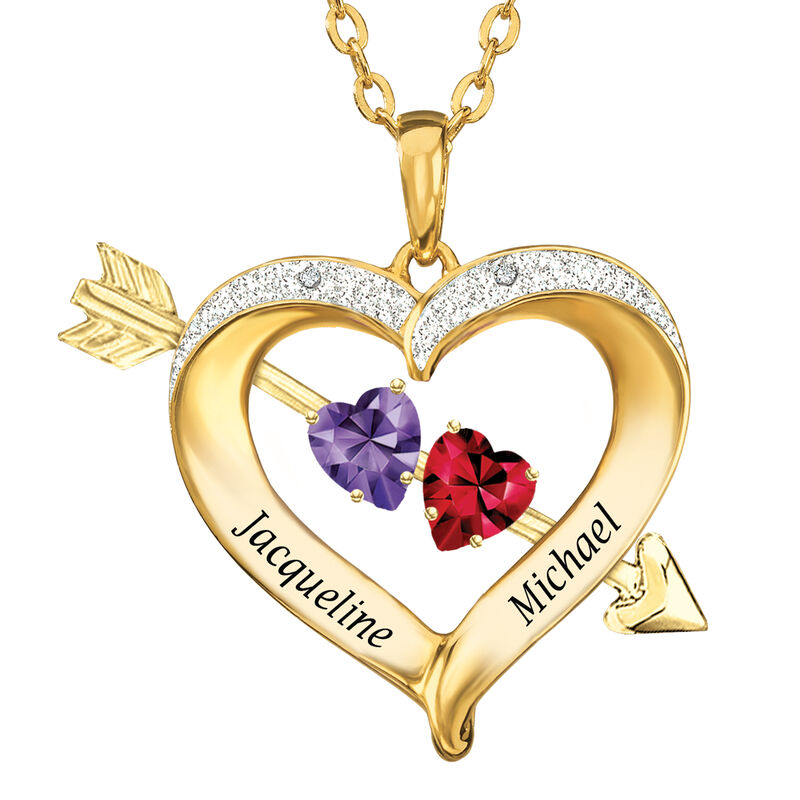 Joined in Love Birthstone Diamond Heart Pendant 10133 0017 a main