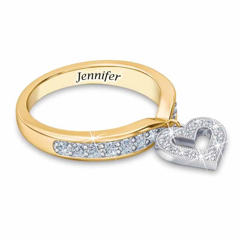 Birthstone  Diamond Charm Ring 2145 002 8 4