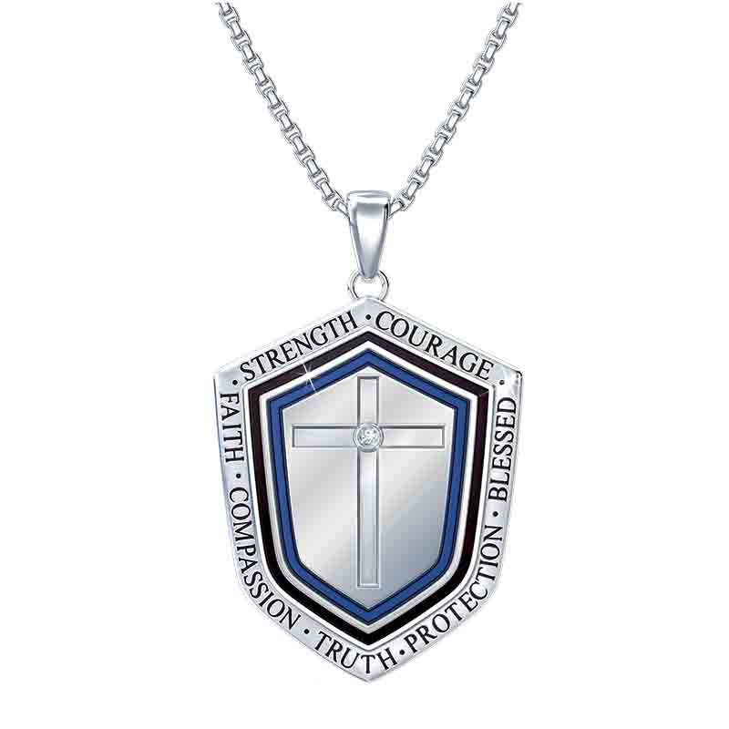 Blessed Son Shield Pendant 1208 001 6 1
