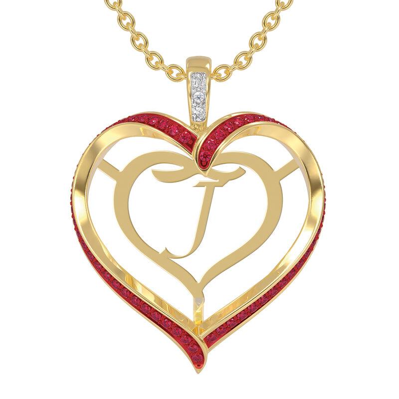 Personalized Birthstone Diamond Pendant 10138 0012 g july