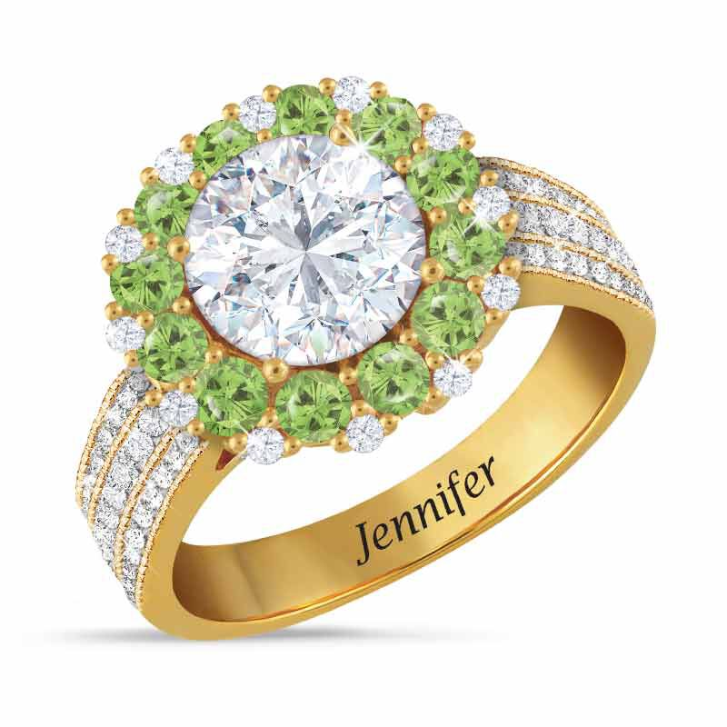 Birthstone Beauty Diamonisse Halo Ring 4924 001 3 8