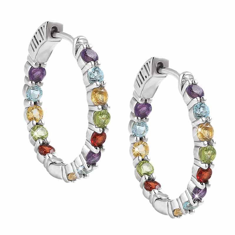 Endless Glamour Gemstone Hoop Earrings 2240 001 4 1