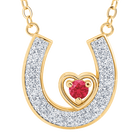 Granddaughter Luck  Love Ruby and Diamond Necklace 2507 001 2 1