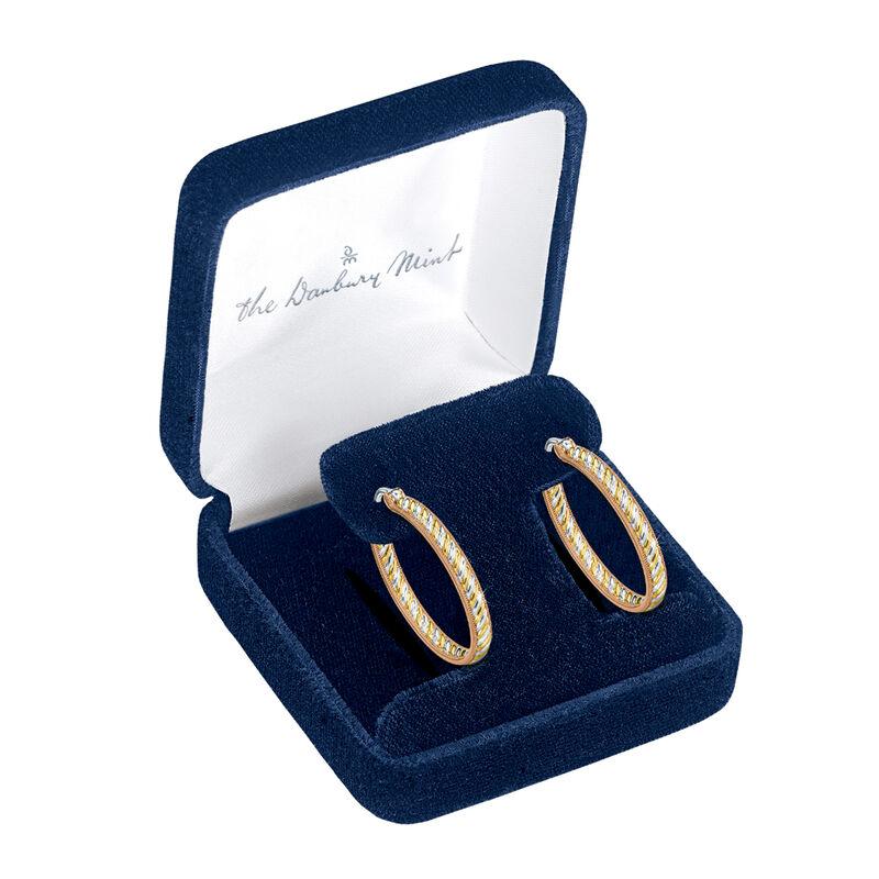 Copper Trinity Inside Out Hoop Earrings 6744 0016 g open display