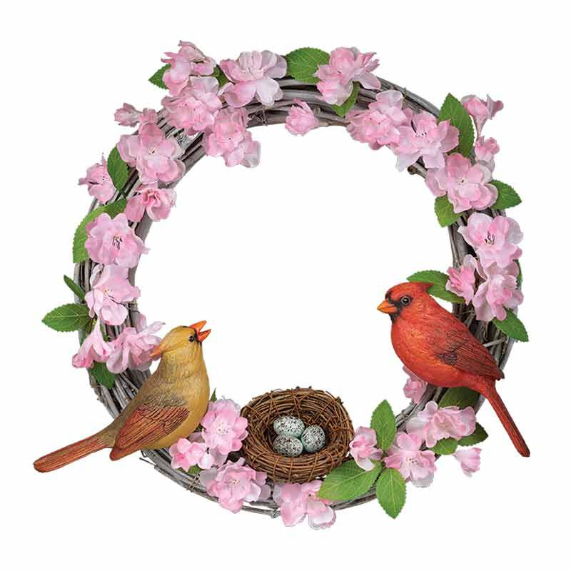 Spring Blossoms Songbird Wreath 1951 001 5 1