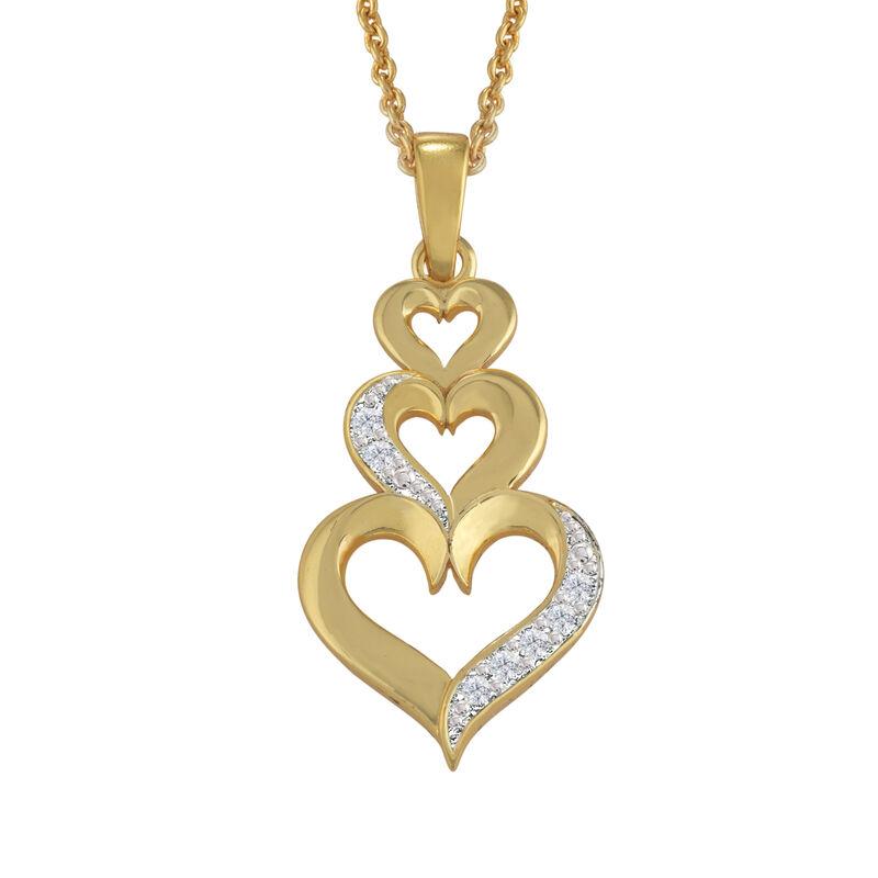 Treasures of Heart Golden Jewelry Set 10338 0010 b pendant1