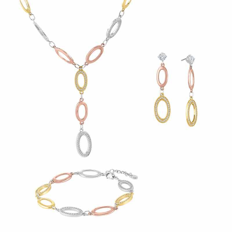 Perfection Tri color Jewelry Set 6502 001 8 1