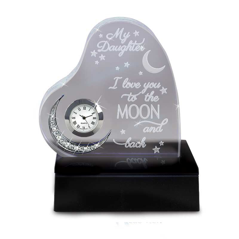 Daughter I Love You to the Moon Clock 1272 001 7 1