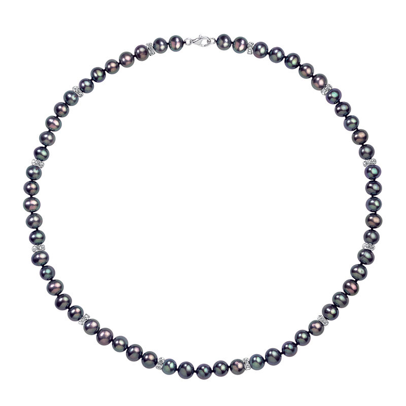 Midnight Spell Black Pearl Necklace with FREE Bracelet 1333 0311 b necklace