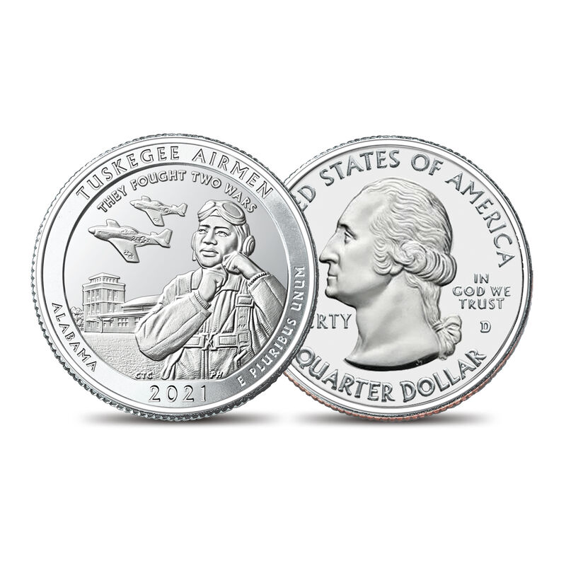 Tuskegee Airmen Coin Currency Set 10122 0010 c quarter