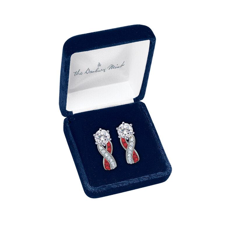 Birthstone Swirl Earrings 10115 0027 m open display