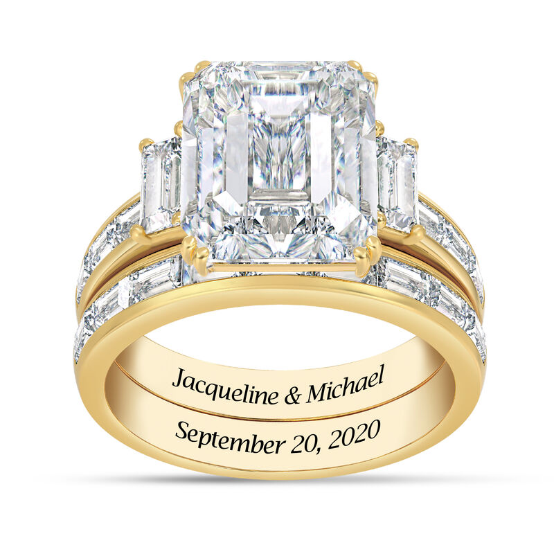Personalized Then Now Forever Ring Set 10304 0010 a main