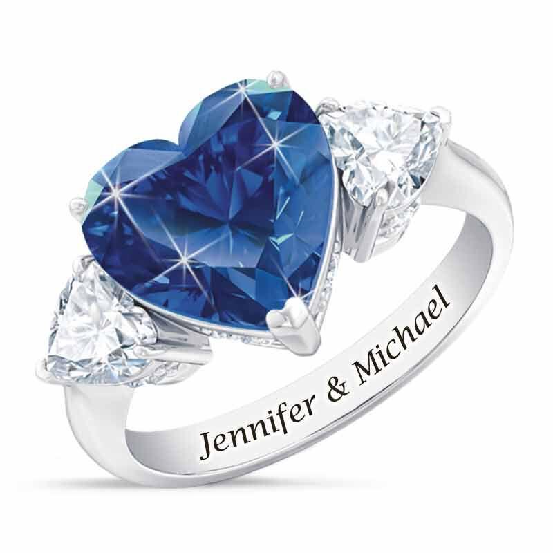 Birthstone Triple Heart Ring 1516 002 1 9