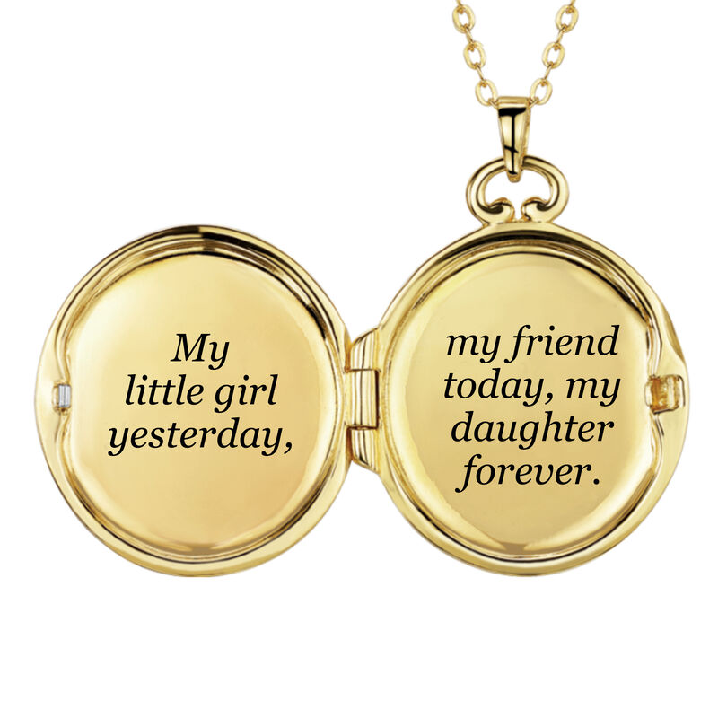 My Daughter Forever Diamond Locket 10216 0025 d open locket