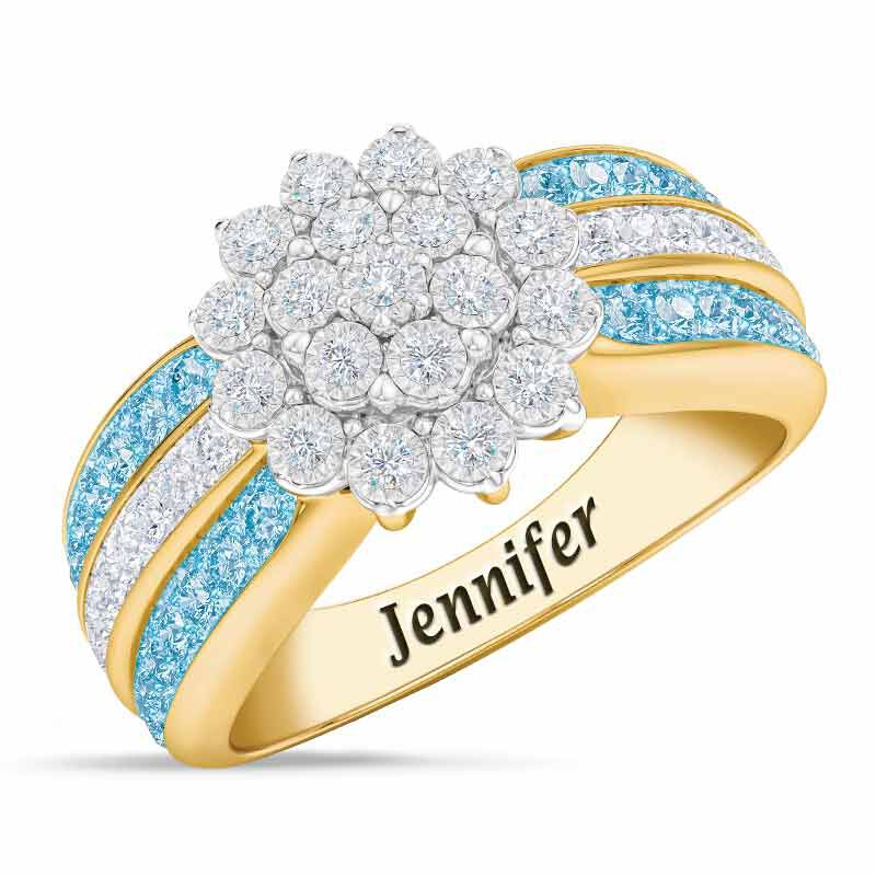 Personalized Birthstone Radiance Ring 5687 003 3 3