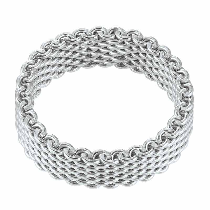 The Sterling Silver Mesh Ring 6211 001 0 2