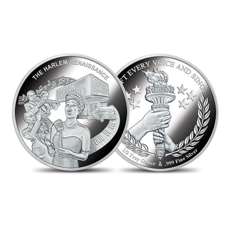 The American Civil Rights Silver Bullion Commemoratives 10123 0019 c HarlemRenaissancecommemorative