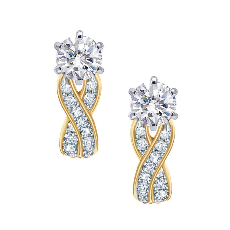 Birthstone Swirl Earrings 6503 0033 d april