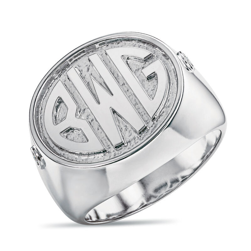 Mens Diamond Signet Ring 6846 001 3 1