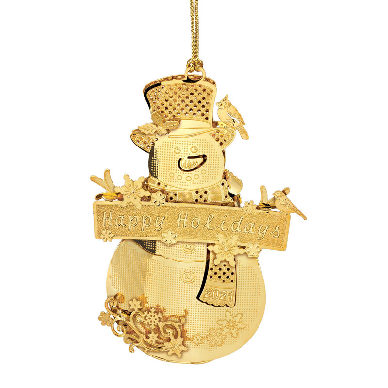 2021 Gold Christmas Ornament Collection 2798 0028 i snowman