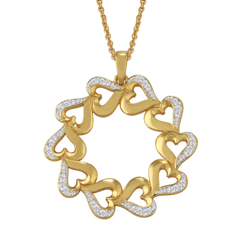 Treasures of Heart Golden Jewelry Set 10338 0010 e pendant