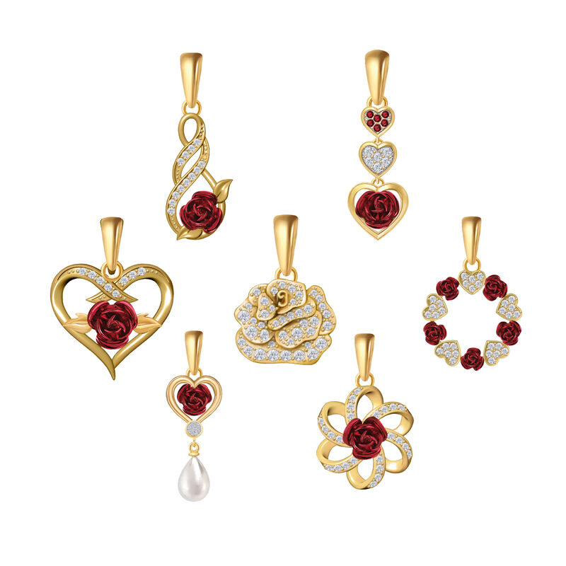 Romantic Roses Pendant Jewelry Box Set 10183 0016 g display box