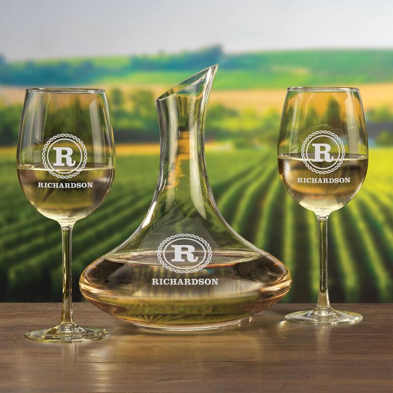 Personalized Wine Decanter Set 5668 0028 c decanterglass
