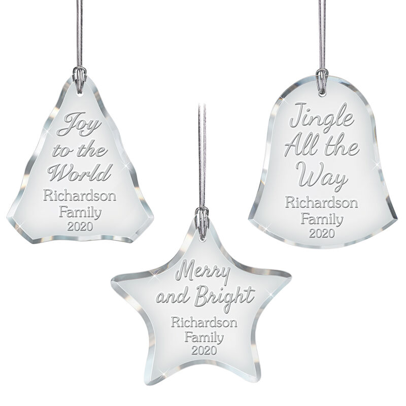 The Personalized Glass Ornament Set 10082 0018 a main