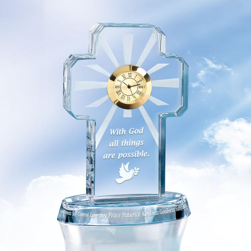 All Things Possible Crystal Clock 6655 0013 b clock