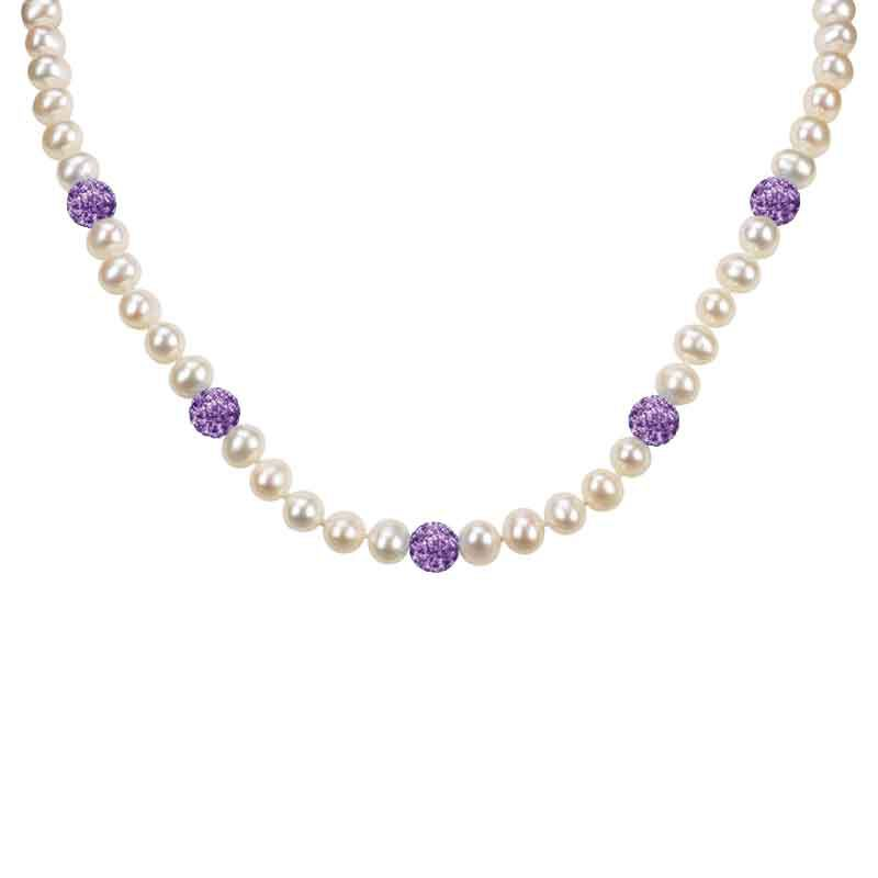 Bedazzled with Birthstones Pearl Necklace 5106 001 0 2