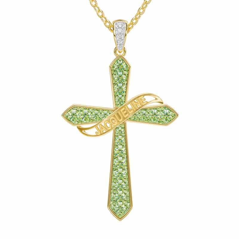 The Birthstone  Diamond Cross Necklace 6787 001 4 8