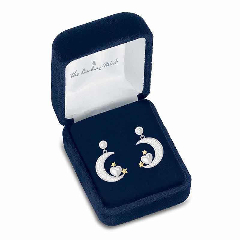 Granddaughter Diamond Moon Earrings 4507 003 4 2