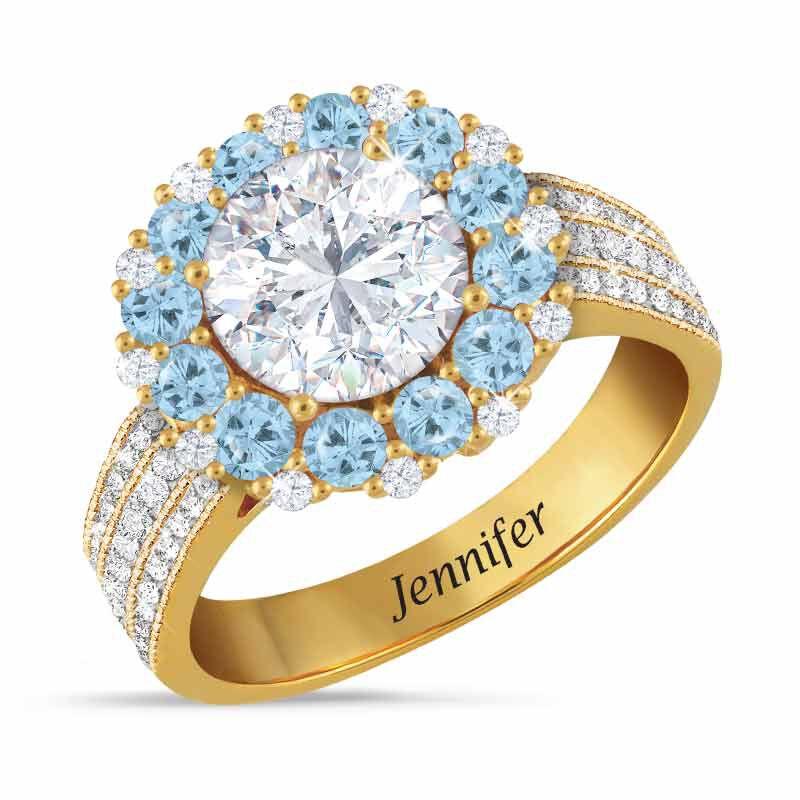 Birthstone Beauty Diamonisse Halo Ring 4924 001 3 12