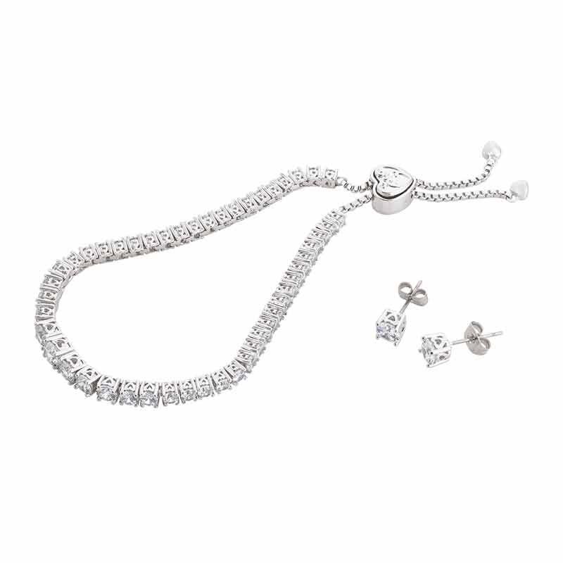 Forever Loved Daughter Tennis Bracelet  Bonus Earrings 6472 001 4 1