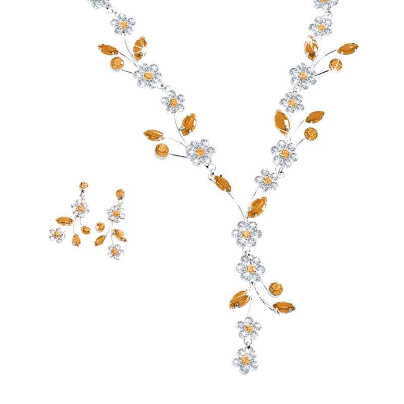 Birthstone Blooms Crystal Necklace 1398 001 6 11