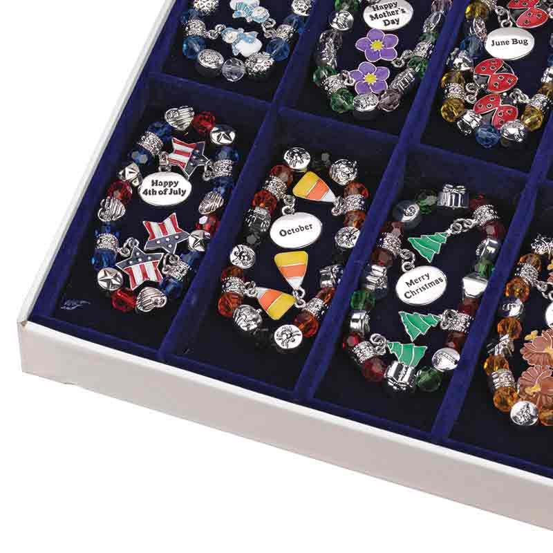 A Year of Celebration Beaded Stretch Bracelets Set 5743 001 9 1