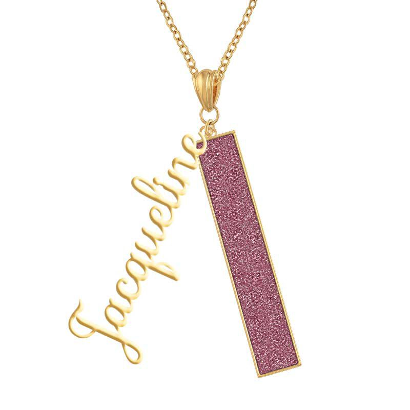Personalized Birthstone Bar Necklace 6800 001 7 10