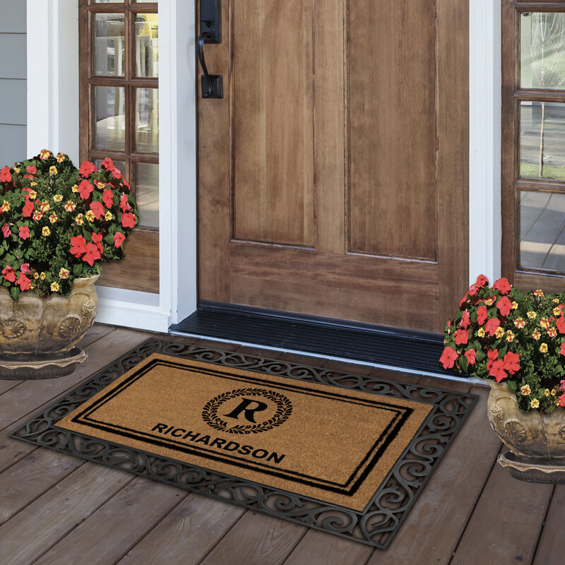 The Monogrammed Welcome Mat 6102 0012 b room