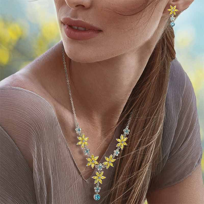 The Almond Blossom Necklace  Earring Set 6490 001 2 3