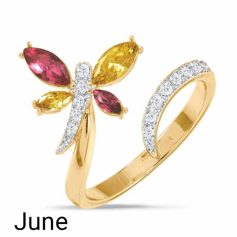 A Colorful Year Crystal Rings   Sizes 5 8 6115 003 3 5