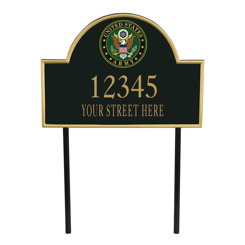 US Army Address Plaque 5718 001 0 1