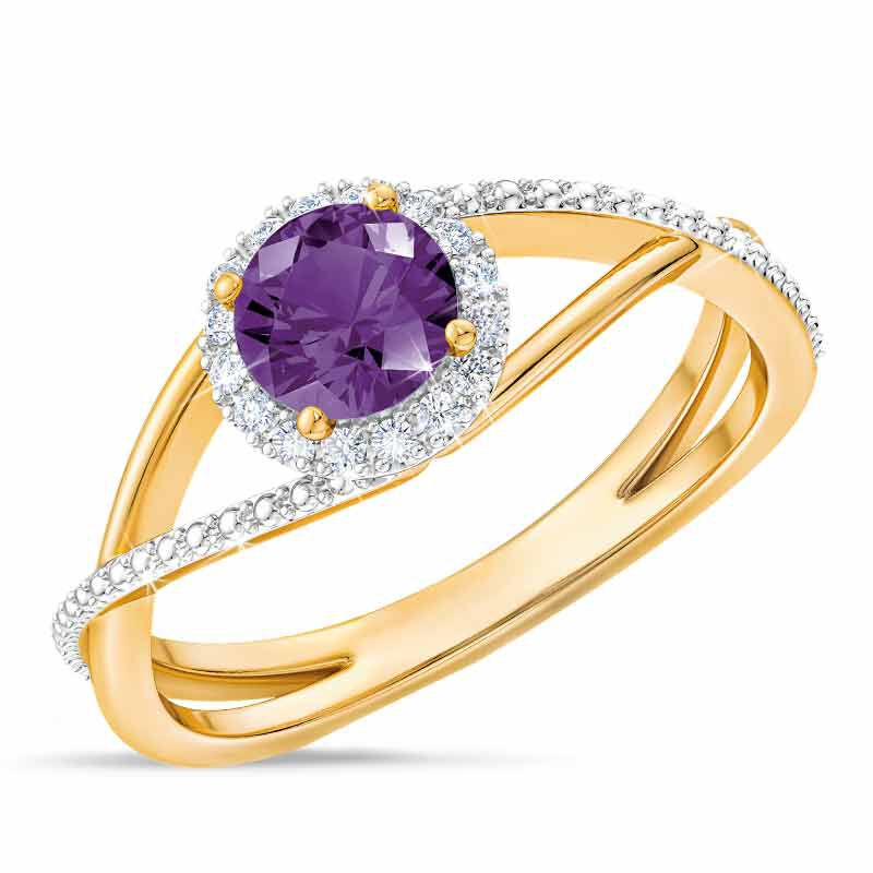 Birthstone  Diamond Ring 1099 001 8 2