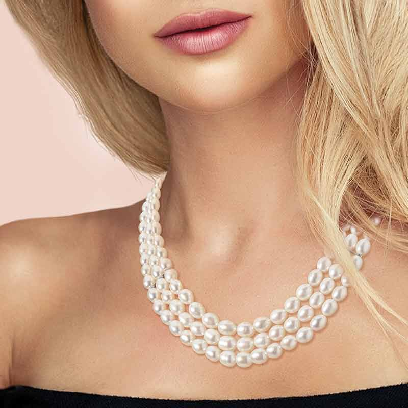 Sweet Harmony Cultured Pearl Necklace 4982 001 2 4