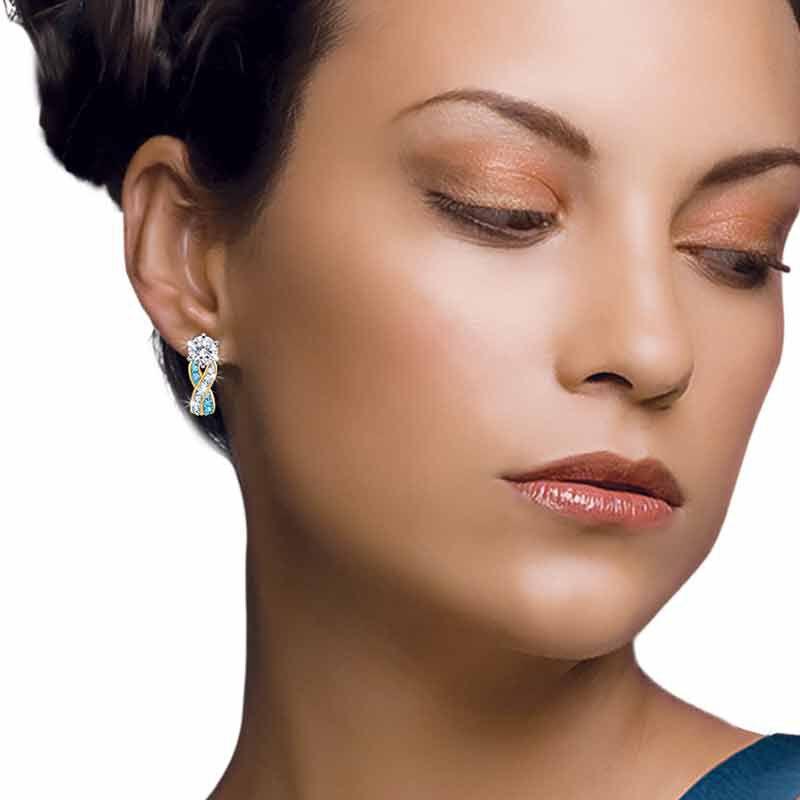 Birthstone Swirl Earrings 5361 014 3 14