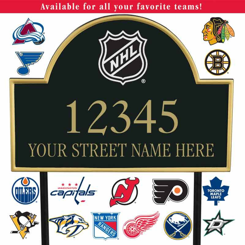 The NHL Address Plaque 1014 003 6 1