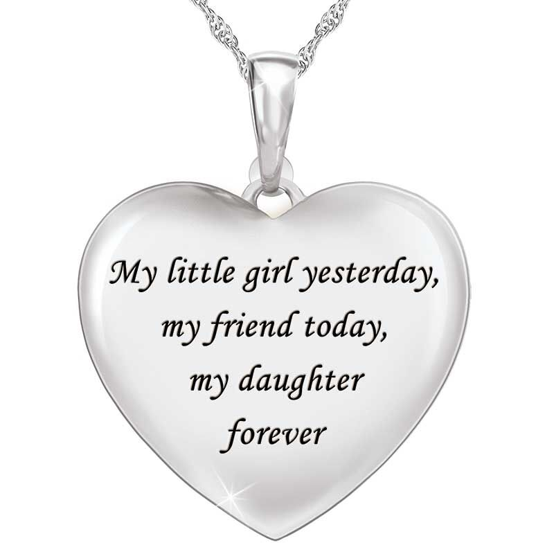My Daughter Forever Personalized Diamond Pendant 5843 001 8 2