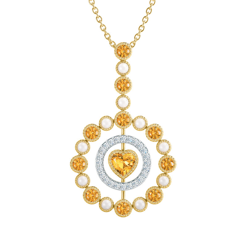 Love Embrace Birthstone Diamond Necklace 6928 0014 k november