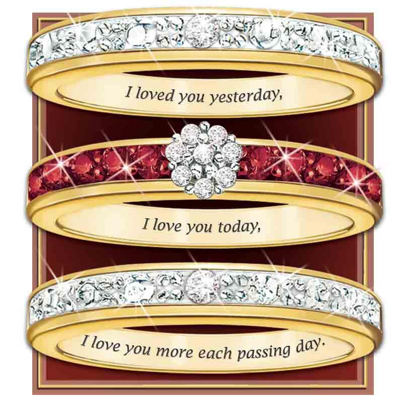 A Dozen Rubies Diamond Ring Set 5289 002 7 2